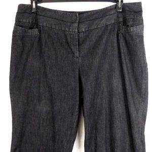 CATO BLACK WIDE LEG DENIM PANTS/JEANS 24WP-EUC